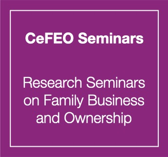 cefeo seminars, research seminars on family business and ownership