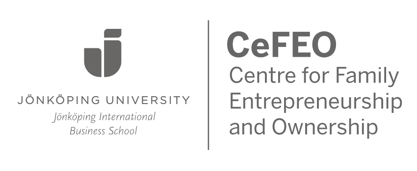 Jönköping University, Jönköping International Business School, CeFEO, Centre for family entrepreneurship and ownership, logo