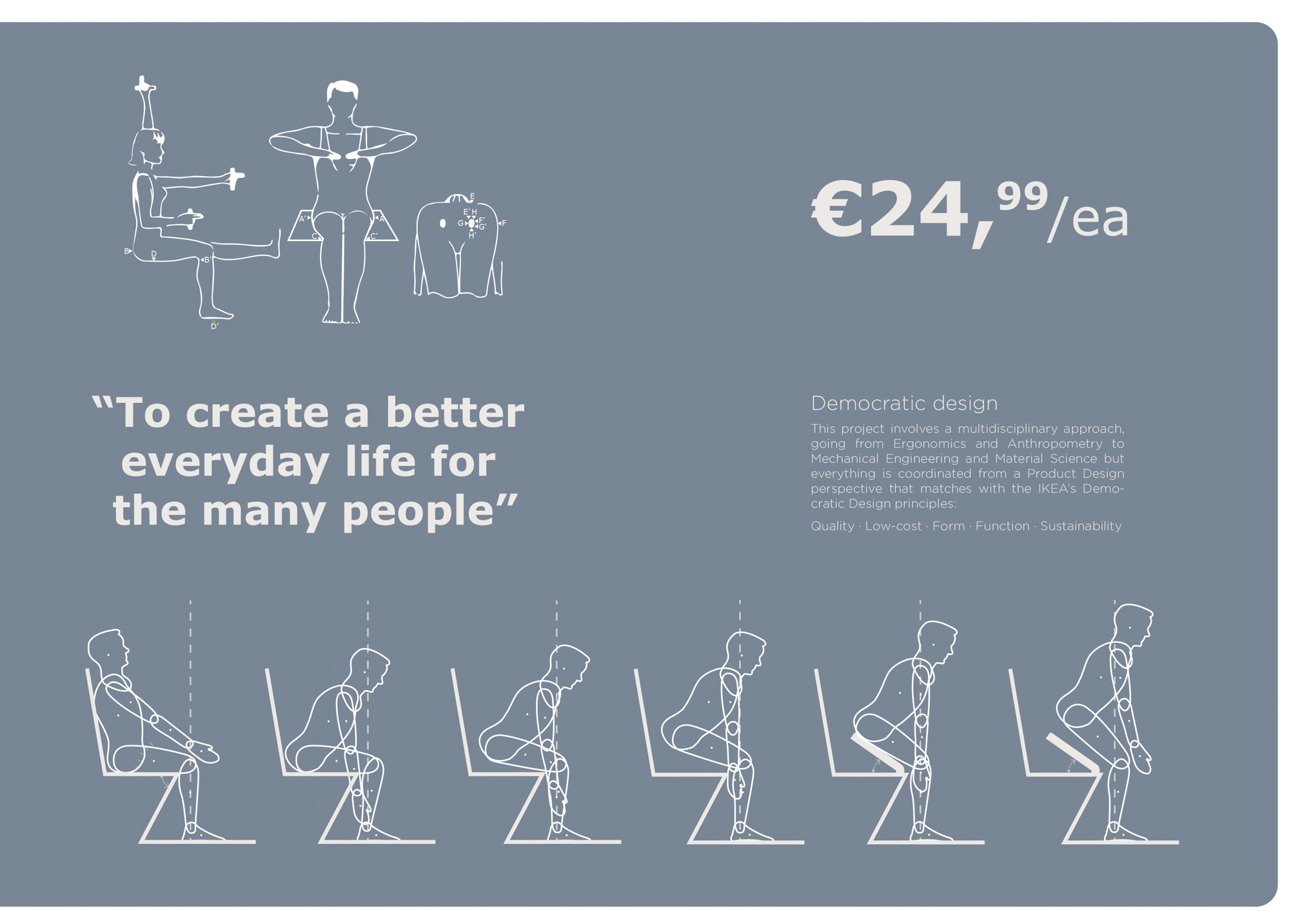 Illustration showcasing the ergonomic help from the portable assistive seat