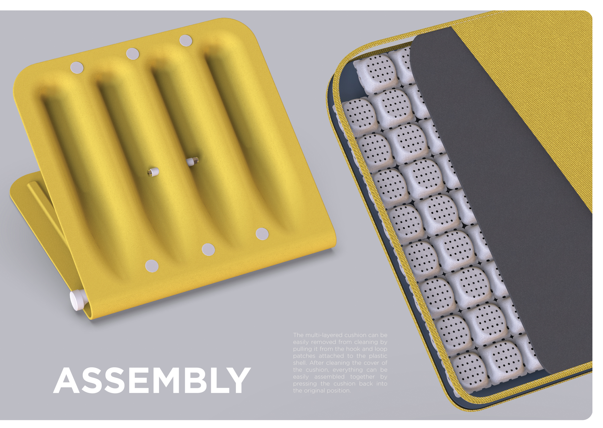 The design of the portable assistive seat